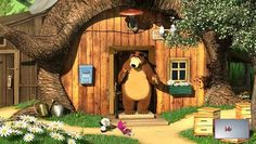 Masha and The Bear - Home-Grown Ninjas Full Epsiodes in English - Dailymotion Video Masha And The Bear, English Fun, Good Movies, Awesome Movies, Play Houses, Wallpaper, Pergola, Outdoor Structures, House Styles