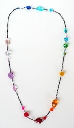 mended veil gem crystal spectrum with chain