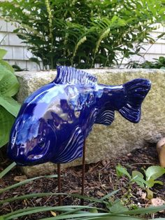 Cobalt Koi Garden Art - Fish In The Garden LLC