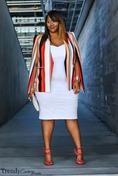 36 Professional Work Outfit Ideas For Plus Size Women - Outfit Ideen Stylish Work Outfits, Curvy Outfits, Mode Outfits, Fall Outfits, Plus Size Fall Outfit, Dress Plus Size, Plus Size Outfits, Look Plus Size, Curvy Plus Size