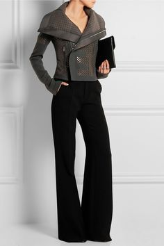 Rick Owens | Sequined wool-blend biker jacket | NET-A-PORTER.COM