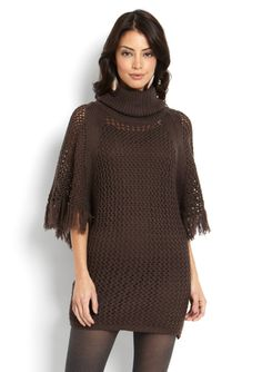 JESSICA SIMPSON Knit Fringe Sleeve Sweater Dress Great for a Thanksgiving Outfit!
