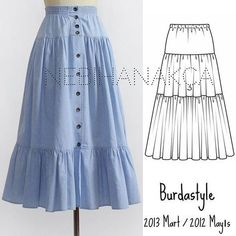 38 Ideas For Sewing Skirts Long Wardrobes Tunic Sewing Patterns, Dress Patterns, Sewing Clothes, Diy Clothes, Skirt Outfits, Dress Skirt, Modest Fashion, Fashion Dresses, Essentiels Mode