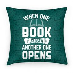 When One Book Closes Another One... | Pillows and Pillow Cases | HUMAN