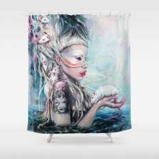 Yolandi The Rat Mistress 	 Shower Curtain