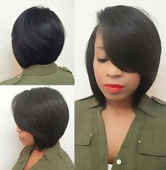 I Love To See Kinky Hair Weave on Black Women! 2015 New human hair bob wigs unprocessed brazilian glueless full lace & lace front wigs bob cut wig for black women babyhair Short Hair Cuts, Short Hair Styles, Natural Hair Styles, Bob Styles, Braid Styles, Short Bob Hairstyles, Weave Hairstyles, Modern Hairstyles, Black Hairstyles