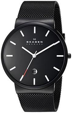 "Skagen Men's SKW6053 ""Ancher"" Black Stainless Steel Watch with Mesh Band Skagen http://www.amazon.com/dp/B00BLZWI5S/ref=cm_sw_r_pi_dp_yakywb1K7ECEJ"