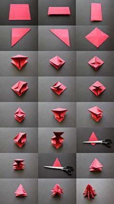 Елочка - оригами