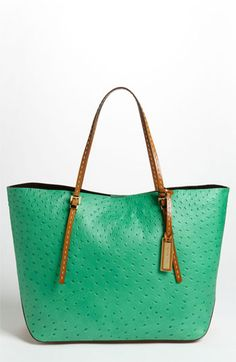 Michael Kors 'Gia' Ostrich Embossed Tote available at #Nordstrom