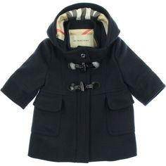 Cute but again -Cost just crazy for less than a month or two wear... http://www.childsplayclothing.co.uk/burberry-baby-girls-navy-duffle-coat-211376.html