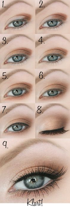 tutorial for a pretty daylight make up in natural colours <3 #easyeyemakeup