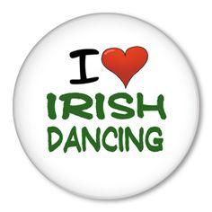 Irish dancing button badge