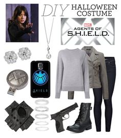 """""""S.H.I.E.L.D. Agent Daisy Johnson"""" by getsherlock ❤ liked on Polyvore featuring Citizens of Humanity, Miss Selfridge, Isabel Marant, American Rag Cie, Samsung, Belk Silverworks, Black, Smith & Wesson, Elements and halloweencostume"""