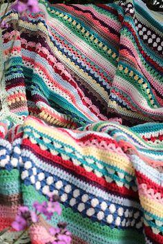 Crochet Blankets Design Ravelry: Spice of Life Blanket pattern by Sandra Paul - Crochet Motifs, Crochet Quilt, Afghan Crochet Patterns, Crochet Stitches, Crochet Baby, Free Crochet, Knit Crochet, Crochet Blankets, Ravelry Crochet