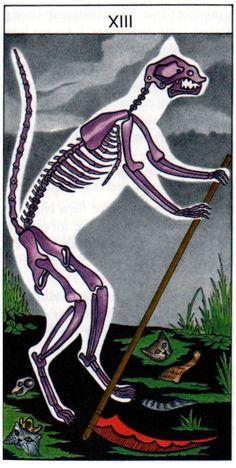 XIII-Death from Le Tarot Du Chat - If you love Tarot, visit me at www.WhiteRabbitTarot.com?utm_content=buffer8c110&utm_medium=social&utm_source=pinterest.com&utm_campaign=buffer