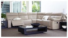 Cadillac Modular Leather Lounge Suite - Lounges & Recliners | Harvey Norman Australia
