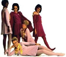 "1968  - Dallas based - Braniff International Hostesses...in their ""hayday""  in Pucci Pink and Plum."