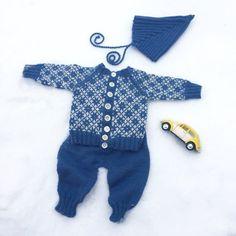 Baby Stjernejakke, Allroundbukse og Pixielue, strikkeoppskrift