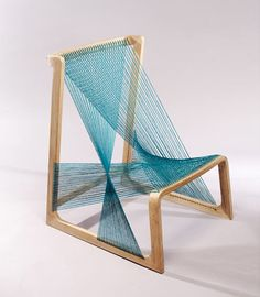 Bizarre ~It recalls images of abandoned looms, textile works left in progress stretched along threads that weave across the center of a simple wooden frame.#Bizarre4home
