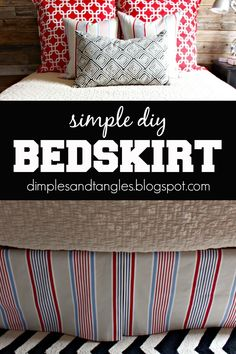 HOW TO MAKE A SIMPLE DIY BEDSKIRT