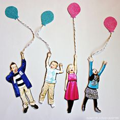 Kids balloon bookmarks. Awesome gift for kids starting to read, and kids who get read to by mom & dad or grandma & grandpa!
