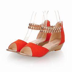 Aliexpress.com: Comprar Hotsale nueva moda rebordear Rhinestone Casual mujeres del talón de cuña Retro bohemio étnico Zip punta abierta sandalia de roma venta al por mayor W669Y15 de sandalias de diamantes de imitación fiable proveedores en Waylynn Footwear Manufactory Co.,Ltd