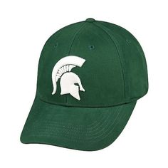 NCAA Vapor Baseball Hats, Adult Unisex, Michigan State Spartans (€16) ❤ liked on Polyvore featuring accessories, hats, michigan state spartans, print hats, pattern hats, ball cap, cotton baseball caps and ball cap hats