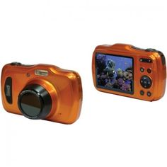 Megapixel HD Video LCD Screen Wide-angle Optical Zoom Automatic Face Detection Antishake Image Stabilization Waterproof To Shock-resistant C Freezeproof Dustproof 10 Scene Modes Self-timer Microsd Card Slot Expands Up To Li-ion Battery Orange Cameras Nikon, Waterproof Camera, Cameras For Sale, Camera Gear, Great Videos, Video Camera, Best Camera, Camera Accessories
