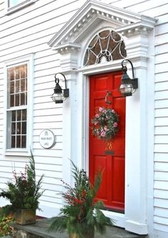 I love how the front door is trimmed out | HOME IDEAS | Pinterest ...