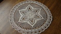 Crocheted doily Ecru doily Handmade doily Lace doilie Lace doily Crochet doilie Table decoration Crochet doily Size:47 cm or 18.3 inches. Ready to dispatch