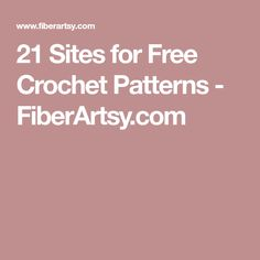 21 Sites for Free Crochet Patterns - FiberArtsy.com