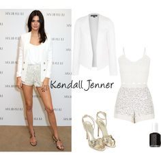 Kendall Jenner Inspired by michellewl on Polyvore featuring Cameo Rose, Topshop, Essie, kendalljenner, kardashian and fashionset