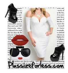 """Plussizeforless II -  3/10"" by mersida-1 ❤ liked on Polyvore featuring Alice + Olivia, Lime Crime, WithChic, polyvoreeditorial and plussizeforless"