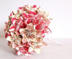 bouquet de mariée original fleurs origami faciles faire