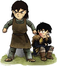 Asha and Theon Greyjoy during their younger days