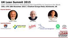 UK Lean Summit 2015 - Meet the speakers Lean Enterprise, Keynote Speakers, High School, Management, Meet, Ads, Events, Learning, Happenings