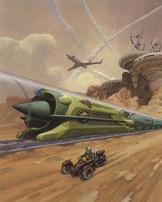 Martian Rails by Mark Zug