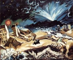 "Ludwig Meidner ""Apocalyptic Landscape"", 1913 (Germany, Expressionism, 20th cent.)"