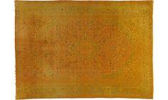 Gelber Teppich By KISKAN PROCESS HAMBURG, Orientteppich, Gefärbter Teppich,  Wohnzimmer, Zimmer,