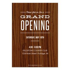 Renee Pulve - Grand Opening - invite and ecard design- we like the grand opening font