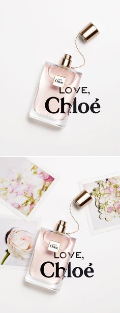 Philippe Lacombe  Very clever refraction/magnification of Type under perfume products