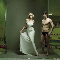 Michael Phelps - Vogue, April 2008 - Photographed by Annie Leibovitz