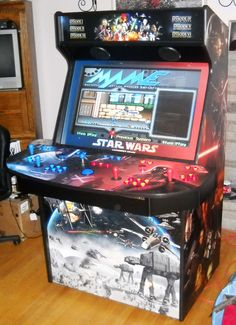 42″ Star Wars-Themed Game Machine that plays 35,000 games. Holy.... Crap.... if only my apartment was bigger (and I had thousands of dollars of disposable income)