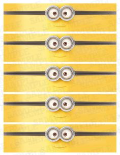Water Bottle Labels, Minions Labels, Minion birthday party, Birthday Party…