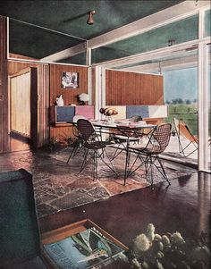 Mid-Century Modern Freak |  1954 Dining Area | Better Homes & Gardens Via