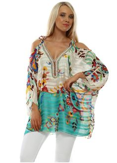 Stylish Port Boutique cold shoulder tops available online now at Designer Desirables. More Port Boutique delivered free with free returns Going Out Tops, Beaded Top, Batwing Sleeve, Cold Shoulder, Floral Tops, Cover Up, Glamour, Boutique, Stylish