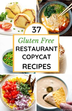 Enjoy a restaurant-worthy meal at home with these 37 #glutenfree restaurant copycat recipes! Sweet & savory, #paleo, #keto & #vegan options included.