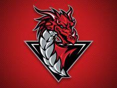 Bakersfield Dragons Secondary Logo by Chad B Stilson Logo Esport, Logo Line, Bakersfield California, Logo Gamer, Logo Dragon, Shark Logo, Logo Desing, Best Gaming Wallpapers, Learning Logo