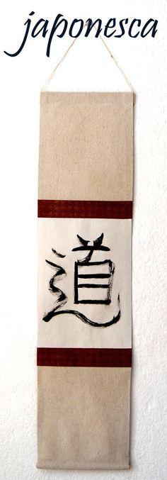 Tela decorativa al estilo pergamino japonés zen: por Japonesca