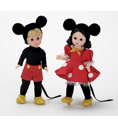 Madame Alexander Mickey And Minnie Mouse Disney Doll Set